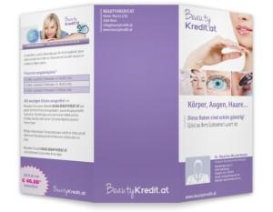 Beautykredit Folder aussen